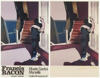 Francis Bacon-In Memory of George Dyer In Memory of Geroge Dyer-1976