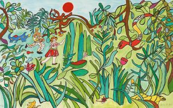 Niki de Saint Phalle-La jungle, (La Jungle II)-1993