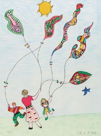 Niki de Saint Phalle-Les cerfs volants-