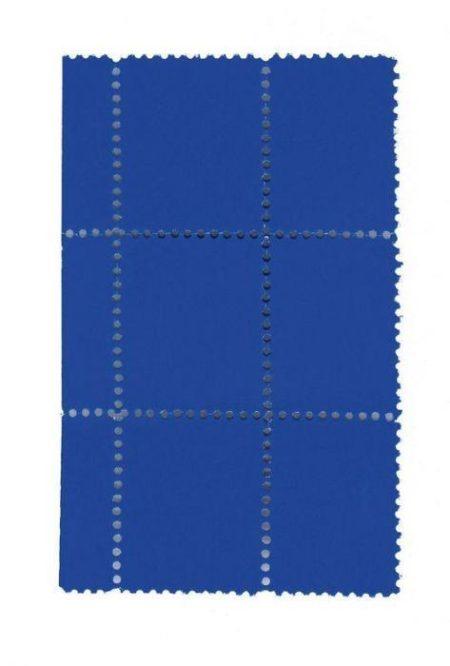 Yves Klein-Suite de six timbres bleus, avec bordure-1959
