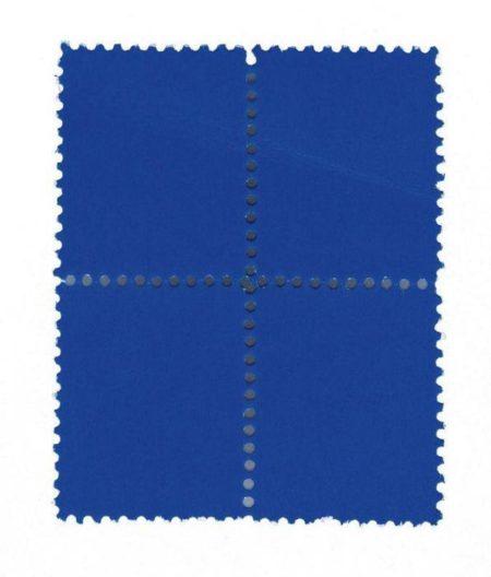Yves Klein-Suite de quatre timbres bleus-1959