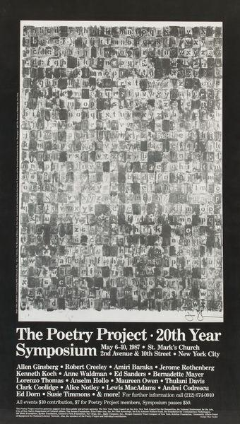 Jasper Johns-The Poetry Project-1987