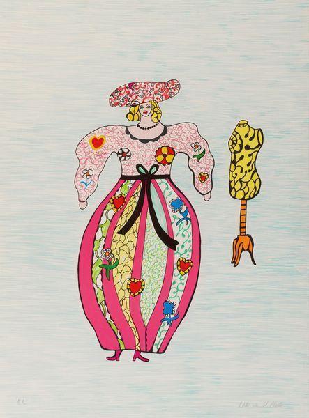Niki de Saint Phalle-La couturiere; Sortie d'ecole-