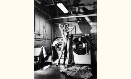 Helmut Newton-Domestic Nude II, In The Laundry Room (1992)-1992
