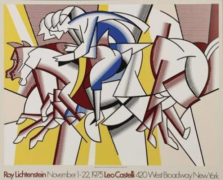 Roy Lichtenstein-Red Horseman Poster Leo Castelli Gallery New York-1975