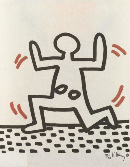 Keith Haring-Keith Haring - Man With Holes-1982