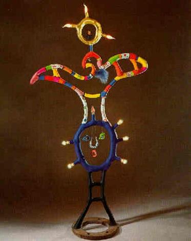 Niki de Saint Phalle-La deesse soleil (avec Nana), (Sun Goddess), (Sun Goddess, with Nana)-1980