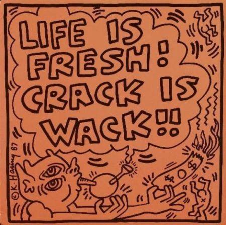 Keith Haring - Pochette de disque maxi 45 tours-1987