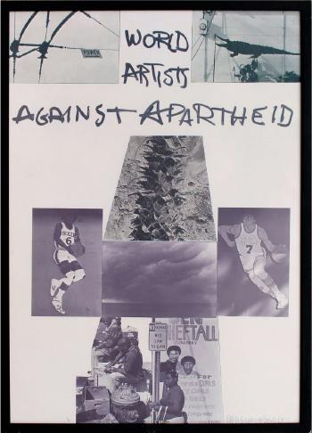 Robert Rauschenberg - World Artists Against Apartheid-1983