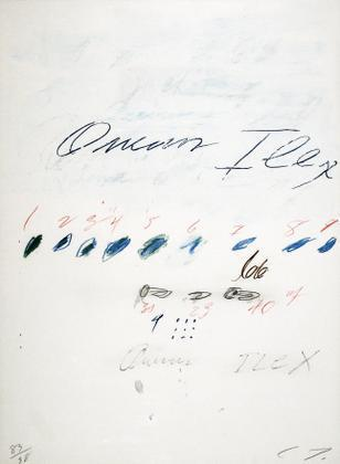 Cy Twombly-Ilex Quercus (from Natural History, Part II: Some Trees of Italy-1976