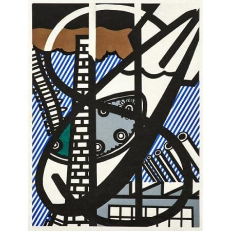 Roy Lichtenstein-Une Fenetre Ouverte sur Chicago from The New Fall of America-1992