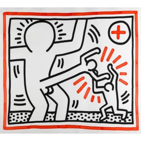 Keith Haring-Keith Haring - Cockfight, from Three Lithographs-1985