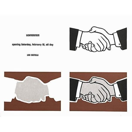 Roy Lichtenstein-This Must Be the Place; Handshake Poster-
