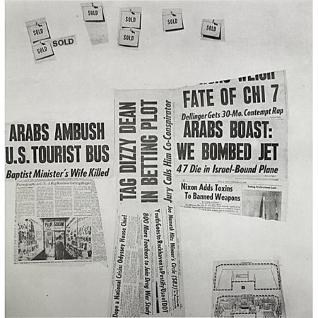 Robert Rauschenberg - Features # 73 (From Currents)-1970