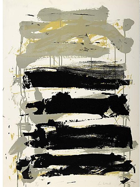 Joan Mitchell-Champs (Gray, Black and Yellow); Champs (Gray, Black and Green)-1991