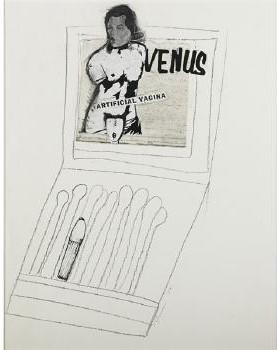 Richard Prince-Venus, Artificial Vagina (From Matchbook Series)-1974