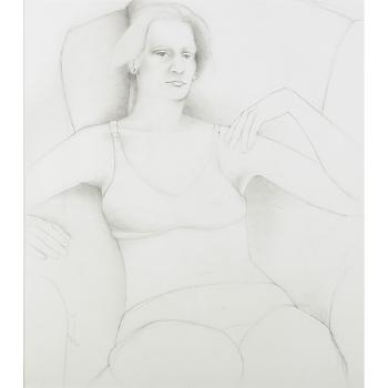 Richard Prince-Study For 'Second Story Interior' (Portrait Of Shelley Mills)-1973