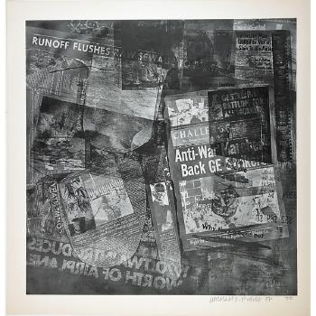 Robert Rauschenberg - Surface Series 48 (From Currents)-1970