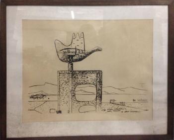 Le Corbusier-La main ouverte-1957