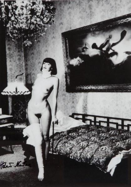 Helmut Newton-Jenny Kapitan, Pension Dorian, Berlin-1977