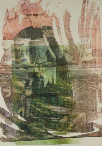 Robert Rauschenberg-Robert Rauschenberg - Saint John the Divine (Cathedral Print)-1969