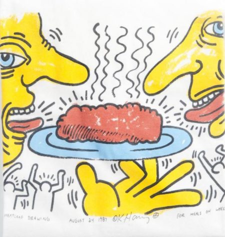 Keith Haring-Keith Haring - Meatloaf Drawings - for Meals on Wheels-1987