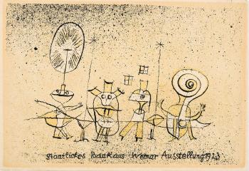 Paul Klee-Die Heitere Seite (Postkarte Zur 'Baushaus Austellung Weimar') (The Bright Side (Postcard For 'Bauhaus Exhibition Weimar'))-1923