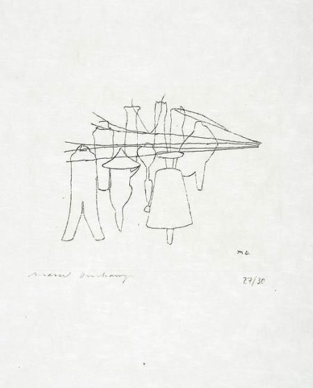Marcel Duchamp-The Nine Malic Moulds (1st state)-1965