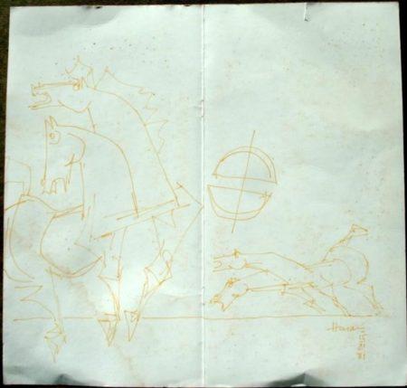 Maqbool Fida Husain-Horses-1981