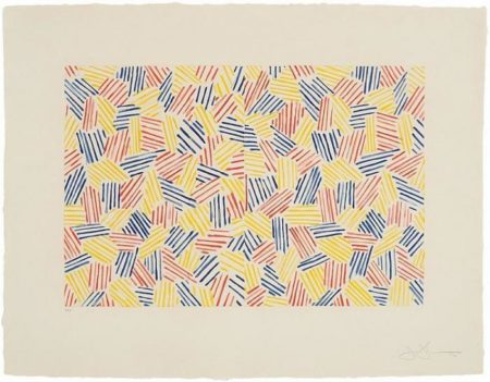 Jasper Johns-Untitled I (Hatching) (Ulae 171)-1976