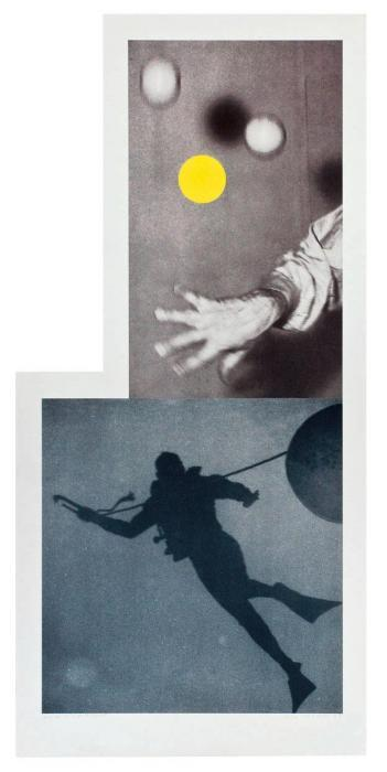 John Baldessari-Juggler's Hand (with Diver)-1988