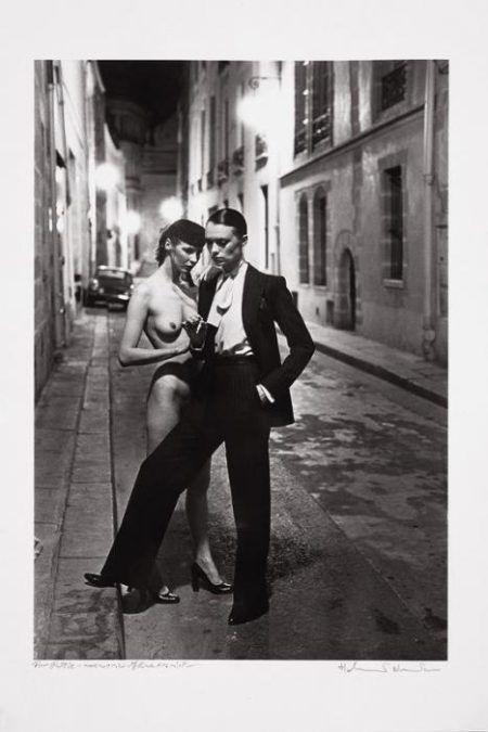 Helmut Newton-Rue Aubriot, Paris-1975