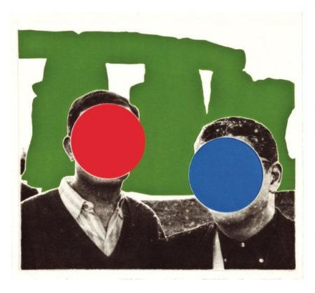 John Baldessari-Stonehenge (with Two Persons), Green-2005