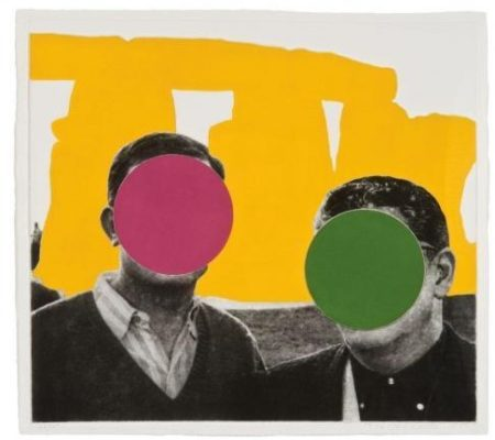 John Baldessari-Stonehenge (with Two Persons), Yellow-2005