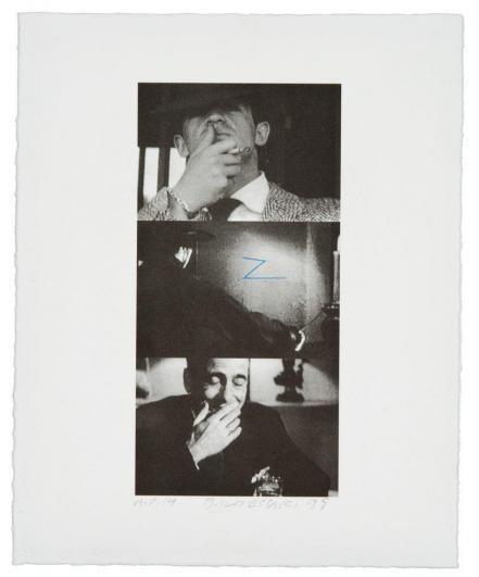 John Baldessari-Untitled / Zorro (Two Gestures And One Mark)-1998