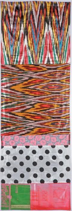 Robert Rauschenberg-Robert Rauschenberg - Samarkand Stitches # VI (From Samarkand Stitches)-1988