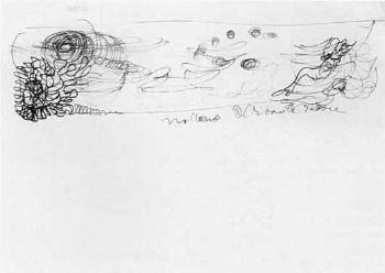 Lucio Fontana-Studio per pannello-