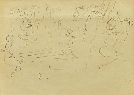 Lucio Fontana-Studio per la V porta del Duomo-1952