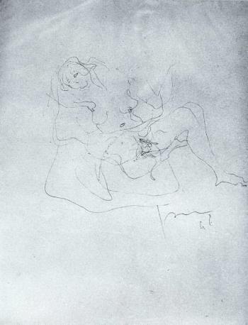 Lucio Fontana-Nudo femminile-1946