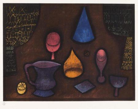 Nature Morte (Pots, Fruit, Oeuf De Paques, Rideaux, Etc..)-1927