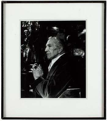 Helmut Newton-Vincent pirce at the magic Castle-1990
