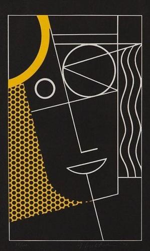 Roy Lichtenstein-Modern Head #2-1970