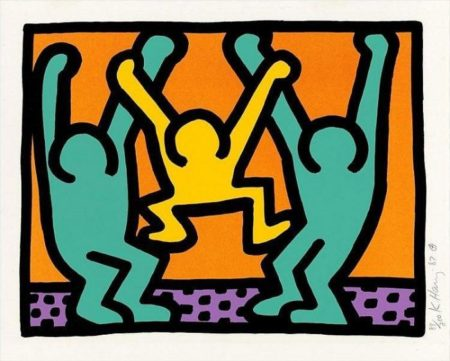 Keith Haring - from 'Pop Shop I'-1987