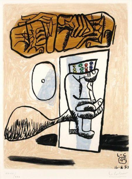 Le Corbusier-No.4, from 'Unite'-1953