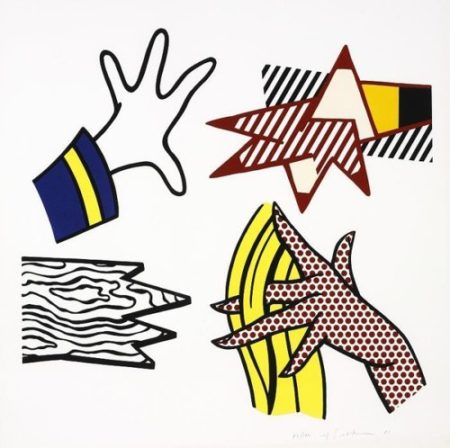Roy Lichtenstein-Study of Hands-1981
