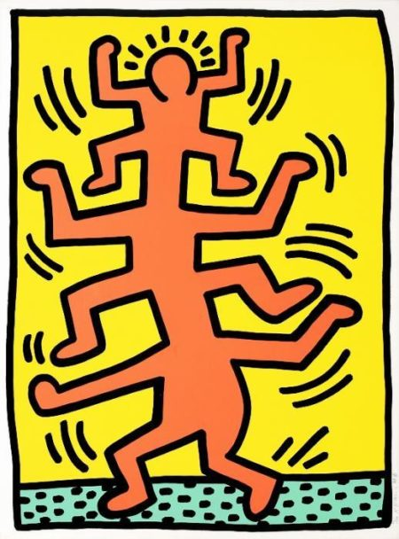 Keith Haring-Keith Haring - Pl.1, from Growing-1988