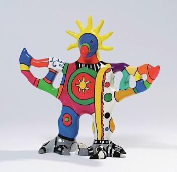 Niki de Saint Phalle-Sun Dog Vase, (Sun God)-2003