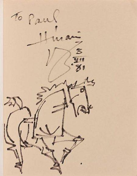 Maqbool Fida Husain-Sans Titre (Cheval)-1981