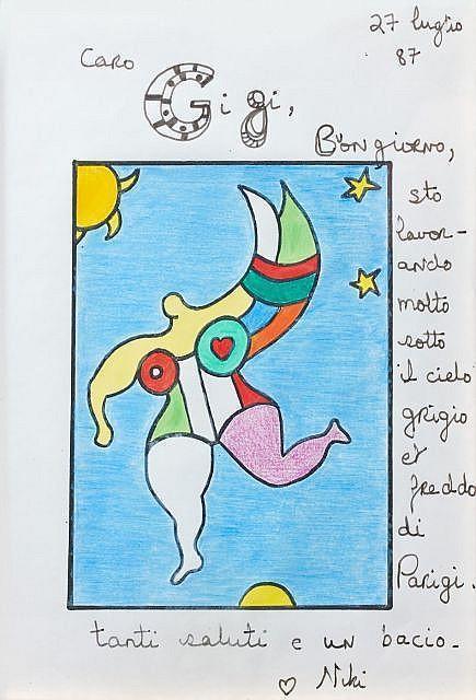 Niki de Saint Phalle-Nana dans le ciel-1987