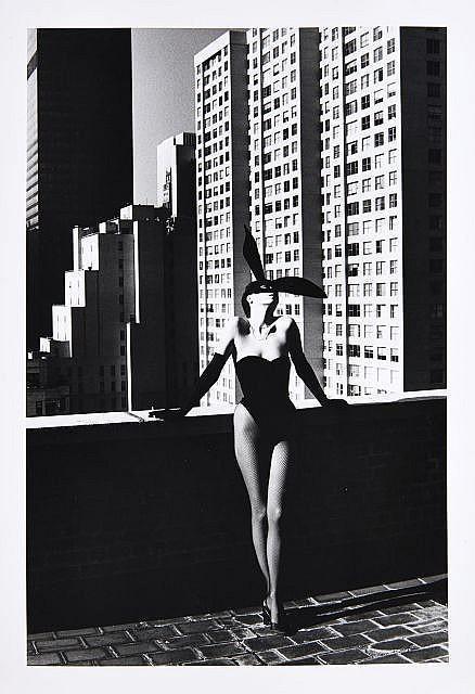Helmut Newton-Elsa Peretti In Halston Bunny Costume, New York (1975)-1975